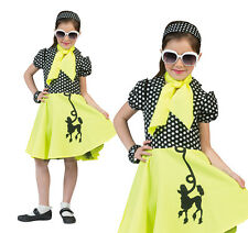 Childrens Yellow Poodle Fancy Dress Costume 1950s Rock N Roll Childs Outfit M
