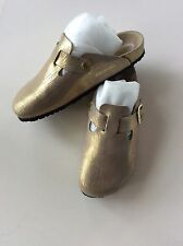 Gold Birkenstocks Boston Clogs Brand New Size EU 42 UK 8 Unusual Eye catching