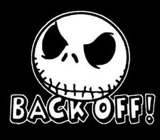 Nightmare Before Christmas Jack Back Off Car Truck Window Laptop Decal Sticker