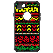 CUSTOM OtterBox Defender for iPhone 6 6S 7 PLUS Black Yellow Red Aztec Tribal