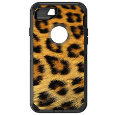 CUSTOM OtterBox Defender for iPhone 6 6S 7 PLUS Brown Black Leopard Fur Skin