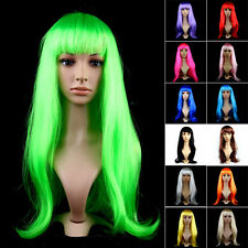 Halloween Costume Women Long Straight Hair Wig Cosplay Party Full Hair Wigs NEW#