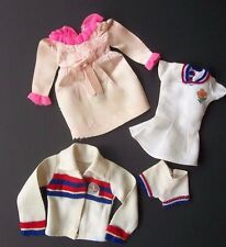 Barbie Bionic Woman Clothes Vtg Lot Tennis Pink Dress Jacket Patch Doll 1970s