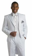 Formal White 2 Piece Tailcoat & Trousers Tuxedo E.J. Samuel Mens Tux Suit TUX107