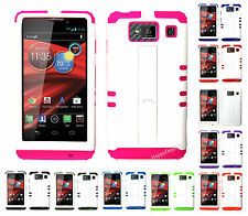 KoolKase Hybrid Mix Cover Case for Motorola Droid Razr Maxx HD XT926m - White