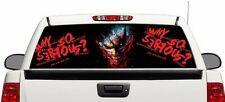 "Why so serious Joker rear window graphics perforated Decal Sticker 66""x22"" RAM e"