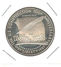 1987 US Constitution Uncirculated Silver Dollar Commemorative Coin