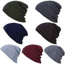 Unisex Knit Baggy Beanie Men Women Winter Hat Ski Slouchy Chic Knitted Cap Skull