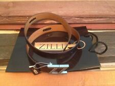 NWT Black croc leather Zilli belt, made in France, size 110