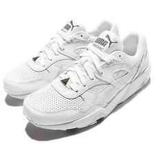 Puma R698 Core Leather White Grey Mens Running Shoes Sneakers Trainers 360601-01