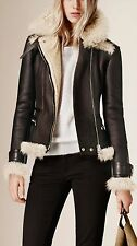 VINCE SHEARLING AVIATOR JACKET MEDIUM