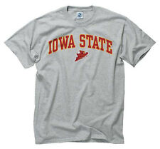 Iowa State Cyclones Arch and Logo Short Sleeve T-shirt - Sport Gray