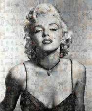 MARILYN MONROE photo mosaic size A3 poster with a lot of sexy pics  ,