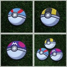 Poke Ball Pokemon GO 3 Pattern Patch Iron Embroidered Applique Sew Badge