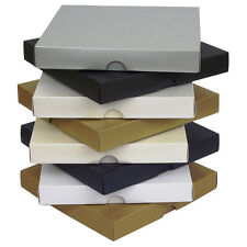 "Pearlescent 6""x6"" Greeting Card Boxes, Gift, Wedding. Choose Colour & Quantity"