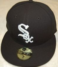 Chicago WHITE SOX GAME Home Black New Era 59FIFTY Fitted Caps MLB On Field Hats