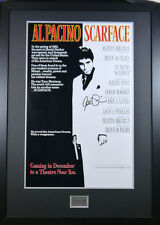 SCARFACE AL PACINO SIGNED MOVIE POSTER WITH COA