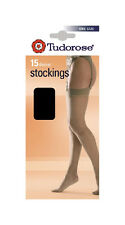 Ladies Womens Tudorose 15 Denier Stockings, One Size (6 or 12 Pair Pack)