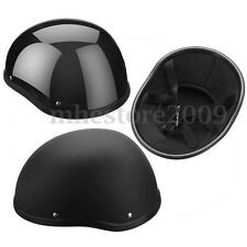 ABS Plastic Motorcycle Half Helmet Skull Cap For Harley Chopper Bobber Biker New
