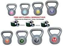 Kettlebells Weight Kettle Bell Weights Home Gym Set FREE KETTLEBELL WORKOUT DVD