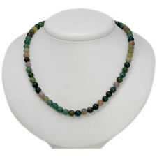 """Multi-Colored Gemstone Bead  Strand/String Necklace w Sterling Silver Clasp 20"""""""