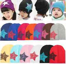 Baby Boy Girl Kid Toddler Infant Children Cotton Soft Unisex Cap Star Beanie Hat