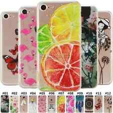 For Apple iPhone Fashion Back Rubber TPU Silicone Gel Soft Shell Skin Case Cover