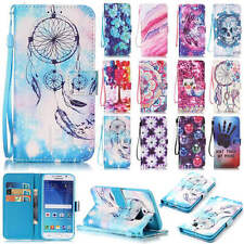 Pattern Magnetic Card Wallet Stand Leather Case Cover For Various Mobile Phones