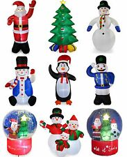 2ft-8ft Inflatable Christmas Decorations Out Door Airblown LED Santa Snowman Fan