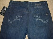 ROCK & REPUBLIC Neil Relaxed Straight Dark Blue Denim Jean Mens Size 30 New $176