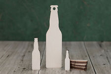 Wooden Beer Bottle Shapes 4mm birch ply wood craft Blank, embelishment