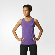 Adidas Climachill Womens Purple Sleeveless Running Gym Vest Tank Top Singlet