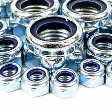 M5 NYLOC LOCK NUT 10MM ZINC PLATED 10 20 50 100 & 200 PACKS AVAILABLE