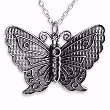 Butterfly Charm Pendant Necklace #925 Sterling Silver #Azaggi N0240S