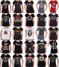 Sons Of Anarchy T Shirt Womens Reaper Logo patch jax teller official skinny Fit
