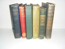 SIX OLD HARD BACK BOOKS - IDEAL SHELF FILLER