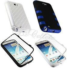 for SAMSUNG GALAXY NOTE II 2 HYBRID SILICONE DIAMOND TUFF TOUCH HARD COVER CASE