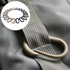 10 Pcs Locking U-Ring Carabiner Buckle Keychain Ring For Webbing Backpack nJd