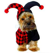 Halloween Clown Costume Pets Puppy Dog Coat Clothes Apparel Warm Outfit XS-XL
