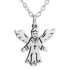 Angel Charm Pendant Necklace #925 Sterling Silver #Azaggi N0342S