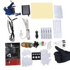 Complete Beginner Tattoo Kit Machine Guns Power Supply Needles Inks Grip SUS