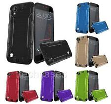 COMBAT Hybrid Rubber Skin + Hard Cover Case for HTC Desire 530 cell phone