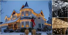360 LED Snowing Icicle Lights Indoor Outdoor Xmas Christmas Decoration House