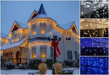 720 LED Icicle Snowing Lights Xmas Christmas Decoration House Indoor Outdoor