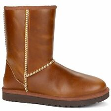 UGG Australia Womens Classic Short Leather Boot, CHESTNUT NEW NIB