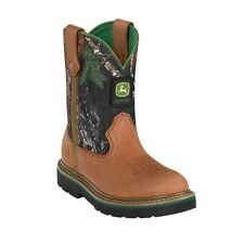 John Deere JD2188/JD3188 Children/Youth Johnny Popper Tan and Camo Western Boots