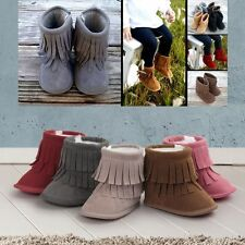 0-18 Month Baby Girls Toddler Shoes Anti-Slip Ankle Boots Winter Warm Snow Shoes