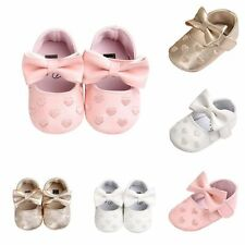 Toddler Girl Crib Shoe Walking Shoes Princess Baby Bow Soft Sole Prewalker 0-18M