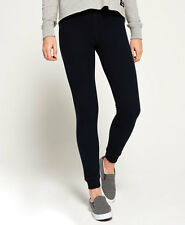New Womens Superdry Orange Label Super Skinny Joggers Eclipse Navy