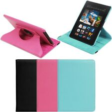 "360 Rotating PU Leather Case Cover w Stand For Amazon Kindle Fire HDX 8.9"" 2013"